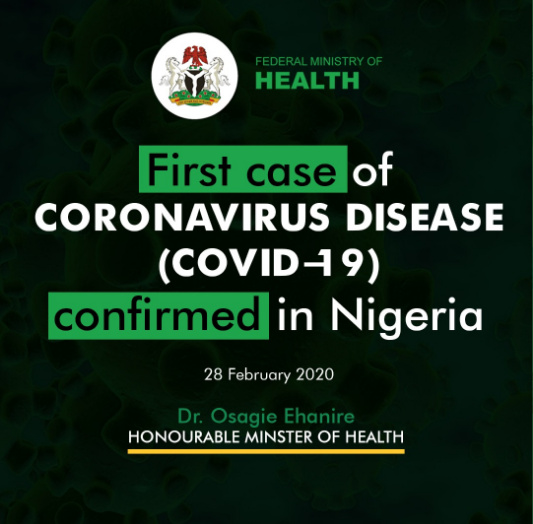 Corona Virus Arrives - Nigeria!! Ministry Of Health Confirms - First Corona Case.
