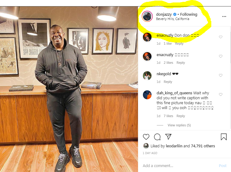 "Corona Virus: Don Jazzy Allegedly ""Runs"" To America For Safety!!"