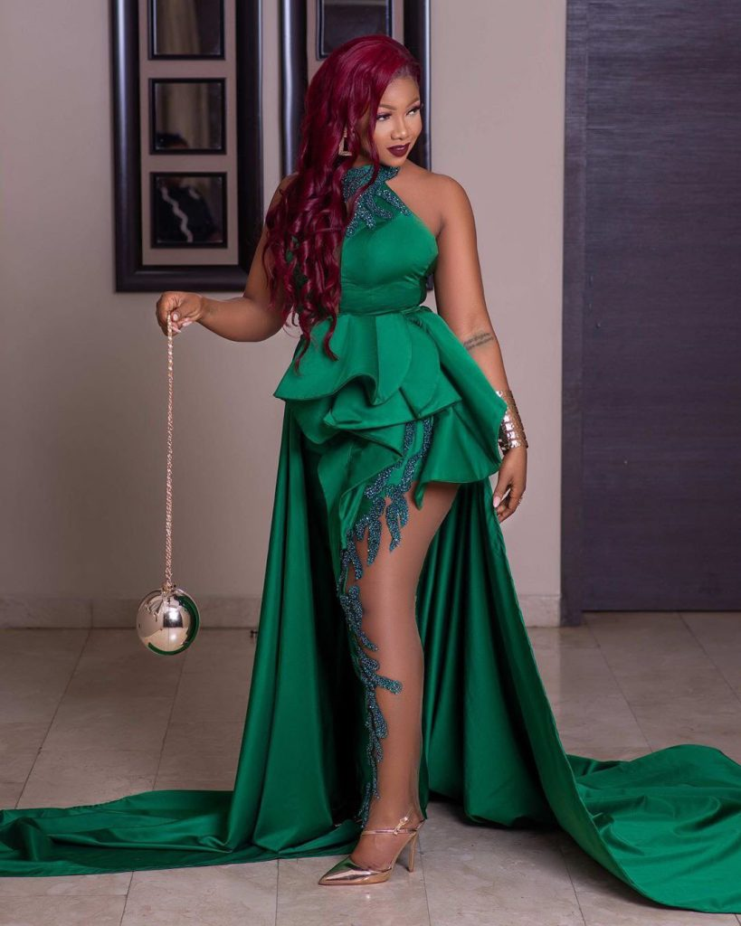 Tacha Sets #AMVCA2020 Red Carpets On Fire With Stylish Outfit!!