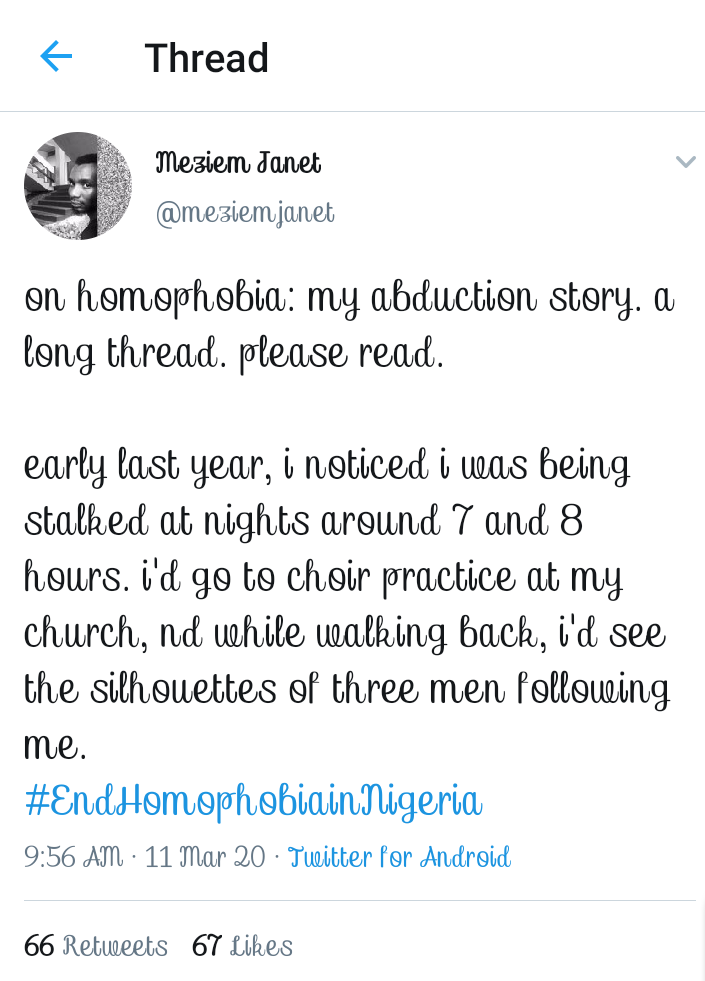 #EndHomophobiaInNigeria: Members Of The LGBTQ Narrate Their Fair Share Of Homophobia!!