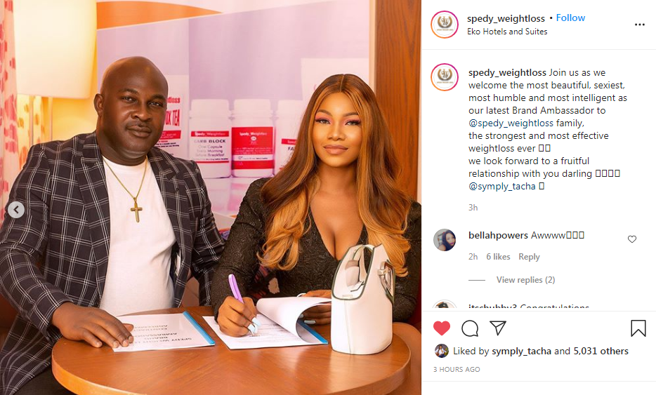 Why #TachaxSpedy Is Trending? The Queen Of Titans Has Bagged Another Endorsement Deal.